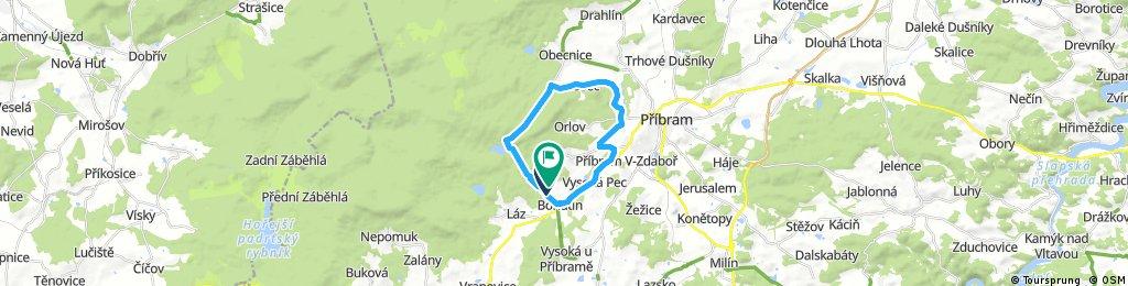 ride through Bohutín Podlesí Obecnice Pilská Bohutín