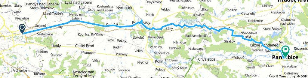 Od Aše po Jablunkov, den 4.: Praha, Černý Most - Pardubice
