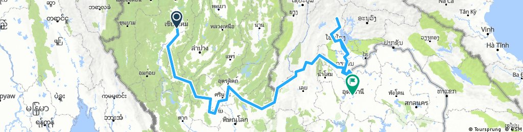 Chiang Mai to Udon Thani and Vang Vieng