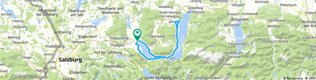 Mondsee-Südufer-Attersee-Mondsee Nordufer-Mondsee