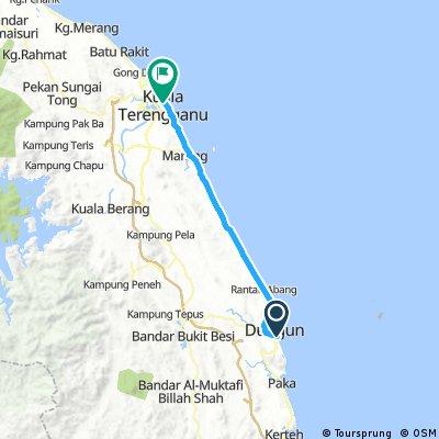 Lengthy ride from Dungun to Bandar Kuala Terengganu