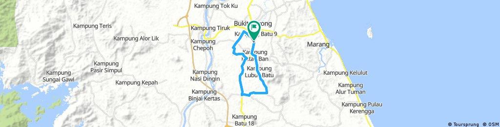 ride through Kampung Bukit Sawa