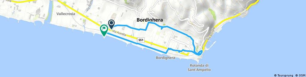 Short bike tour through Bordighera