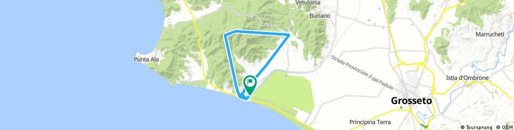 Short ride through Castiglione della Pescaia