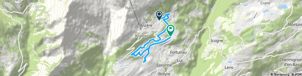 Short ride from Anzère to Ayent
