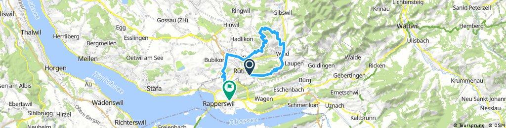 Bike-Runde Rüti-Wald-Bachtel-Jona