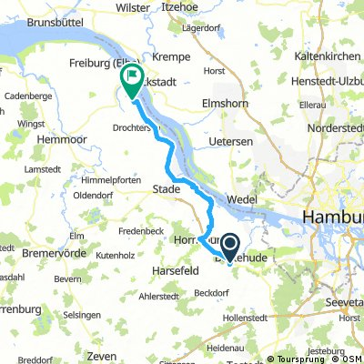 Buxtehude zum Campingplatz - Am Leuchtturm - Drochtersen - Krautsand