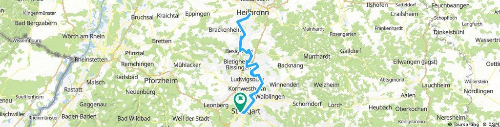Stuttgart - Neckarradweg - Heilbronn und zurück