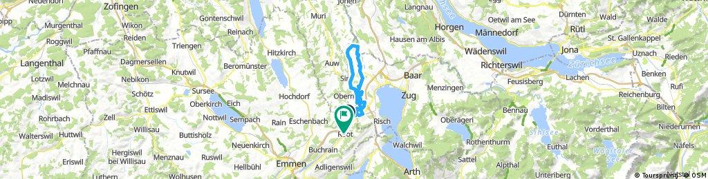 Reuss entlang -  Maschwanden - Hagedorn