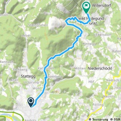 Radrunde von Graz nach Sankt Radegund bei Graz