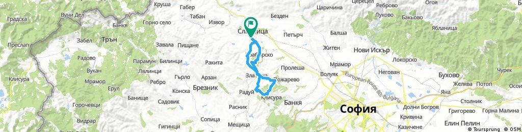 Long bike tour through Slivnitsa