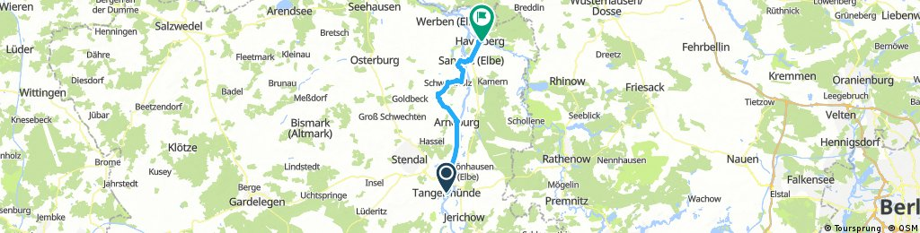 Tangermünde nach Havelberg