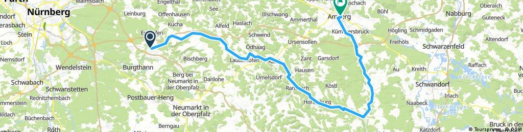 Von Altdorf durchs Lauterachtal und derVilz nach Amberg