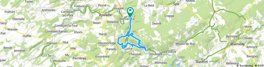 Long bike tour through Nonceveux