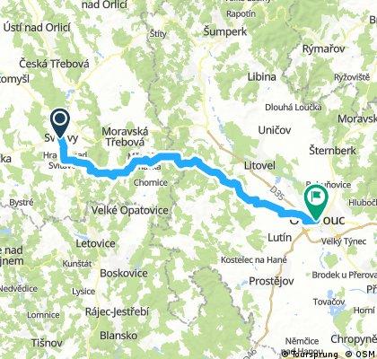 Od Aše po Jablunkov, den 6.: Svitavy - Olomouc