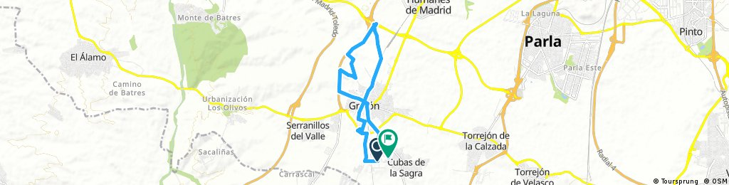 ride through Cubas de la Sagra