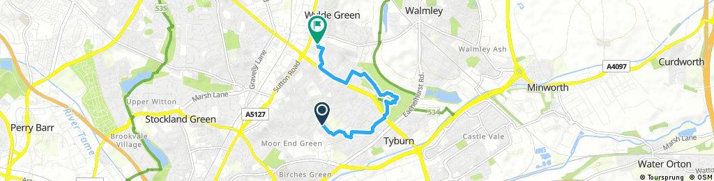Brief bike tour from Birmingham to Sutton Coldfield
