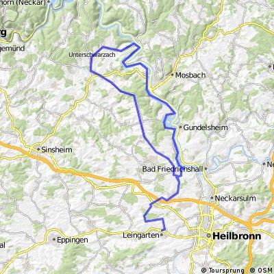 Zum kleinen Odenwald (Heilbronn-Bib. - Aglasterhausen - Neckar u.z.) CLONED FROM ROUTE 4708