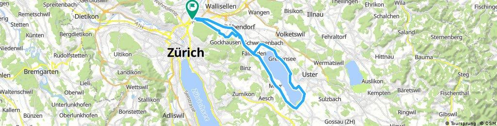 Lange Radrunde durch Zürich