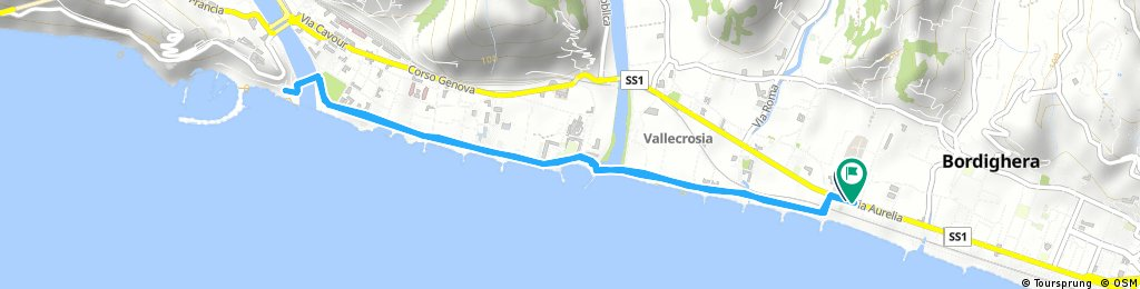 Brief bike tour through Bordighera