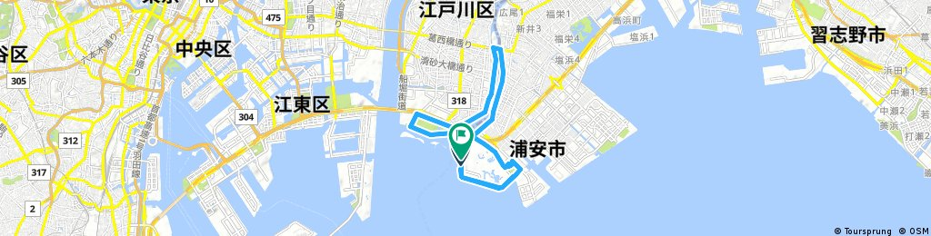 training run at Kasai area