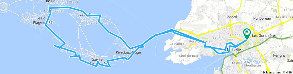 La Rochelle to Ile de Re loop with beaches