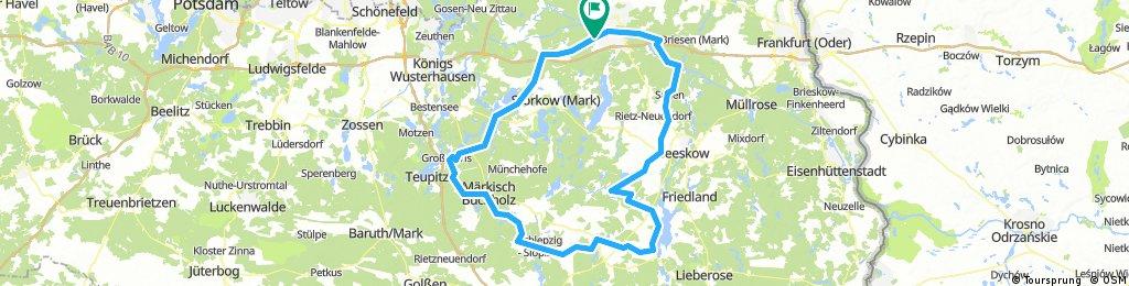 Rauen --> Tonsee --> Mittenwald --> Rauen