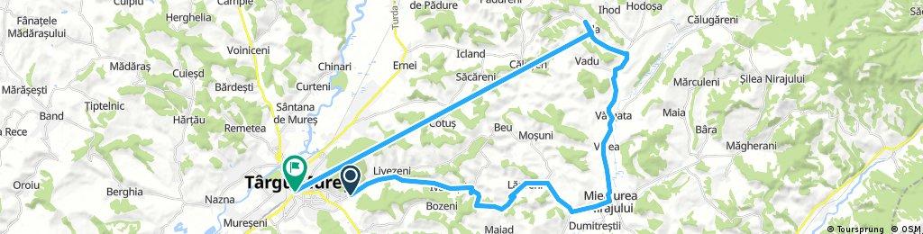 Long bike tour from (null) to Târgu Mureş