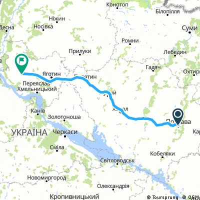 Poltava — Boryspil — Poltava brevet (terminated at Pyriatyn) / Бревет Полтава — Бориспіль — Полтава (перерваний у Пирятині)