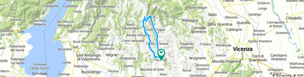 Lengthy ride through Tregnago..illasi valley and Lessinia mountain