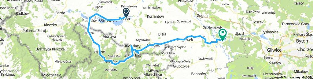 Opolskie, Góry Opawskie, Czechy