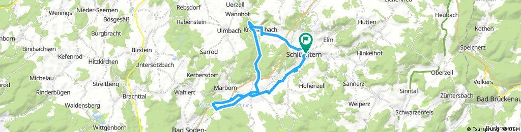 Schlüchtern,Kressenbach,Steinau,Stausee und zurück nach Schlüchtern.