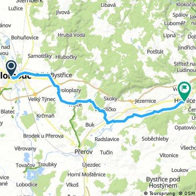 Od Aše po Jablunkov, den 7.: Olomouc - Hranice