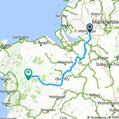 Long ride through Llanuwchllyn