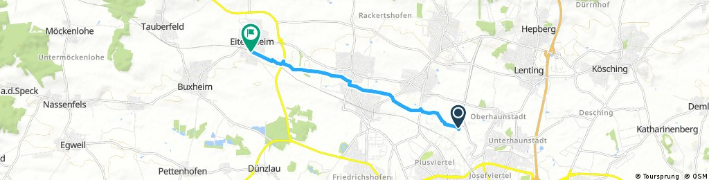 Kurze Radrunde durch Eitensheim