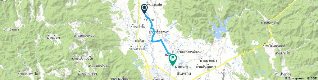 ride through Ban San Bpa Sak