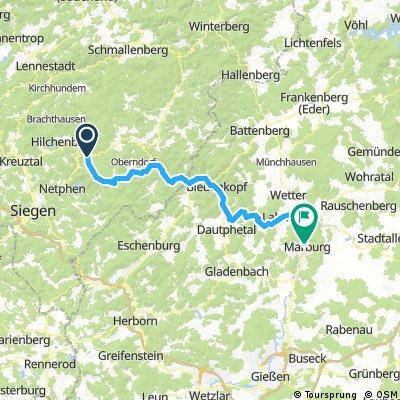 2017 - Lahntal-Radweg - 1. Tag: Lützel - Marburg