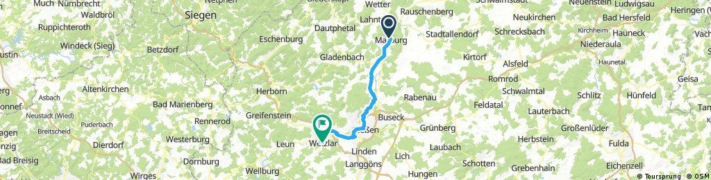 2017 - Lahntal-Radweg - 2. Tag: Marburg - Wetzlar