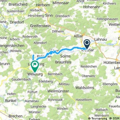 2017 - Lahntal-Radweg - 3. Tag: Wetzlar - Weilburg