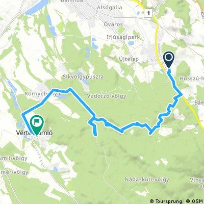 bike tour from Tatabánya to Vértessomló