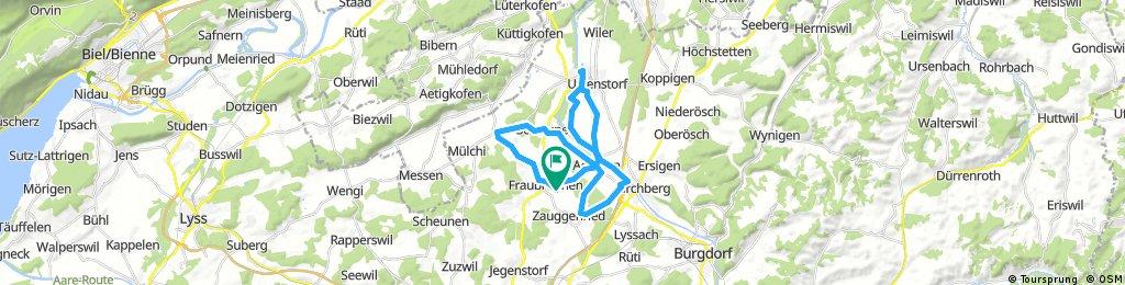 Lange Radrunde durch Fraubrunnen