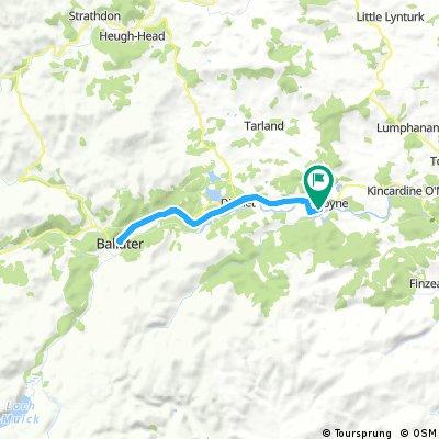 Lengthy bike tour through Aboyne