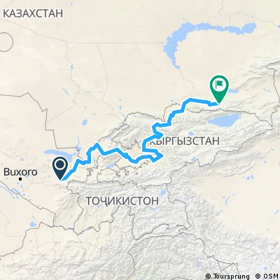 Samarkand to Almaty slightly hilly