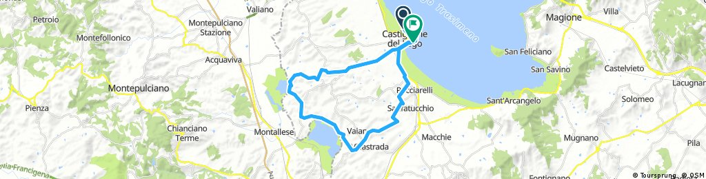 Castiglione del Lago, and two other lakes