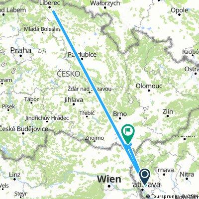 Long ride from Bratislava to Lednice