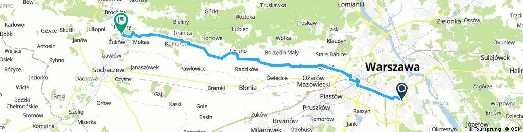 Lengthy bike tour through Plecewice