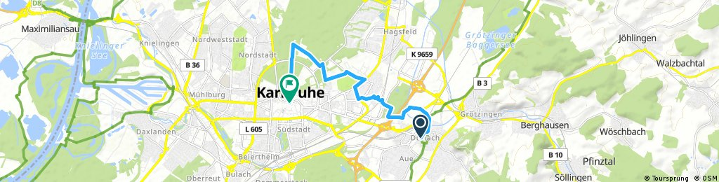 Radrunde durch Karlsruhe