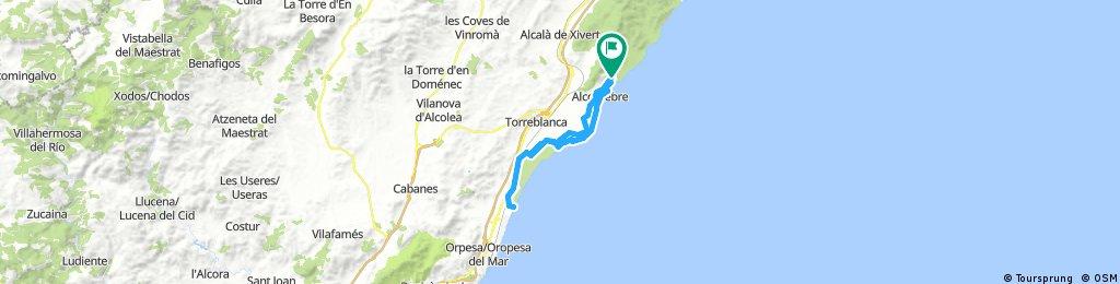 Long ride through Alcalà de Xivert