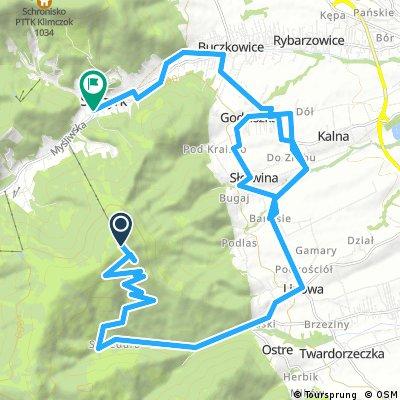 Lengthy bike tour through Szczyrk