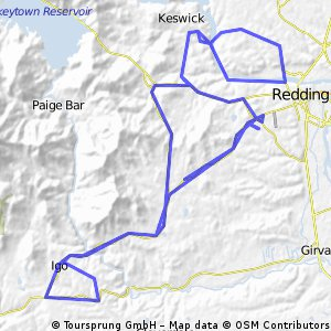 Cycling routes and bike maps in and around Redding Bikemap Your